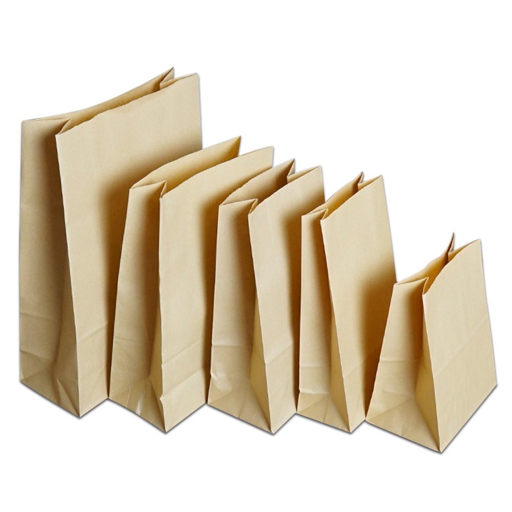 50-Pcs-Brown-Kraft-Paper-Bread-Bag-Food-Sandwich-Cookies-Candy-Flat-Bottom-Party-Favor-Supply