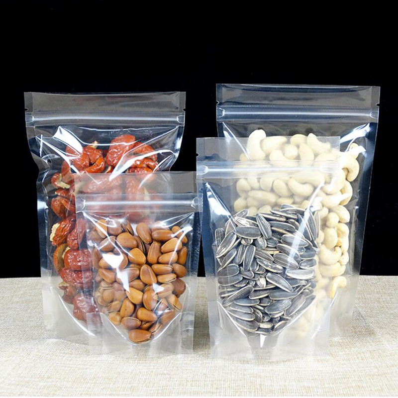 Mixed-Up-sizes-Stand-Up-Clear-Plastic-Packaging-Packing-Bag-for-Food-Coffee-Nuts-Sugar-Storage