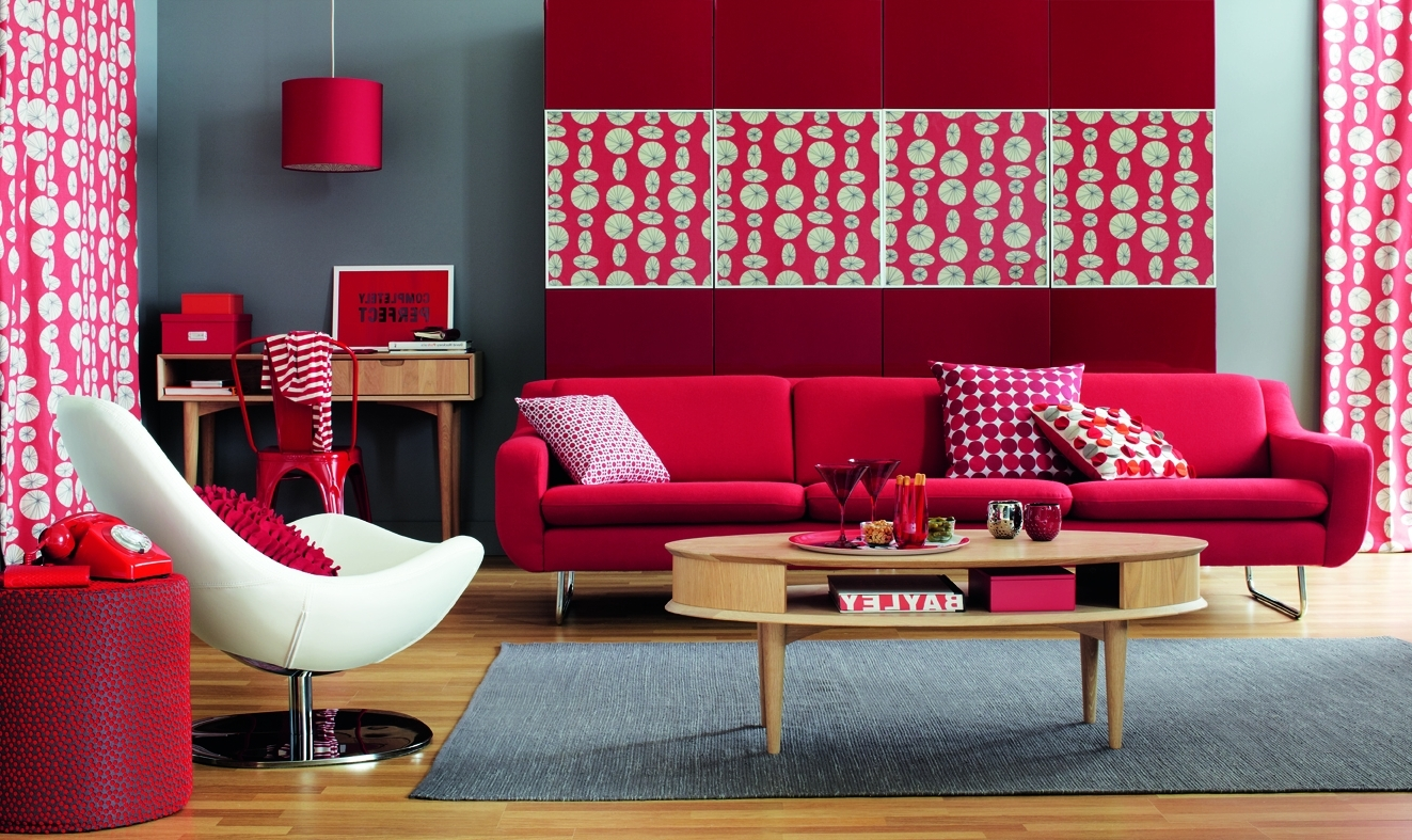 Fantastic Red Living Room Ideas In Romantic Style Homeedrose with regard to 93 Cool Red Living Room Set